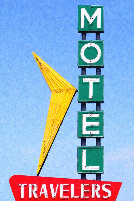 Travelers Motel Tulsa Oklahoma Print by Wingsdomain Art and Photography