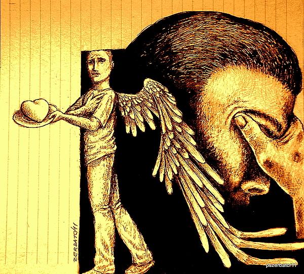 Tray  I Give You My Heart Print by Paulo Zerbato