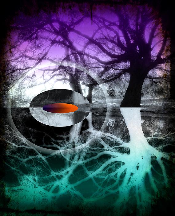Tree Of Shadows Print by Michi Sherwood