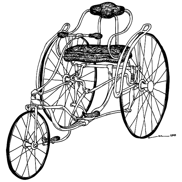 Tri Bike Print by Karl Addison