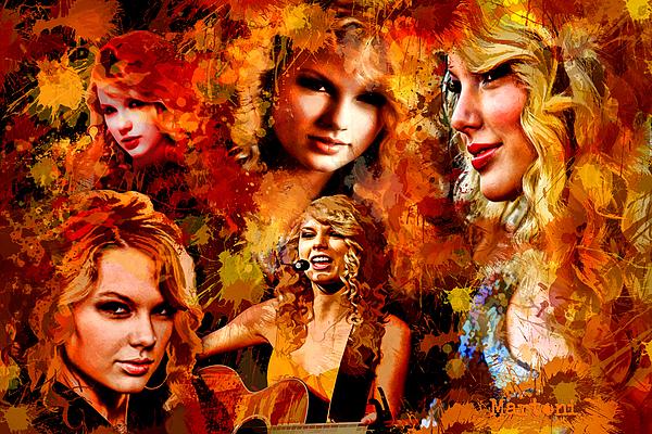 Tribute To Taylor Swift Print by Alex Martoni
