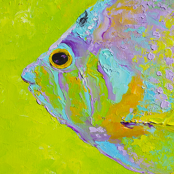 tropical fish painting by jan matson