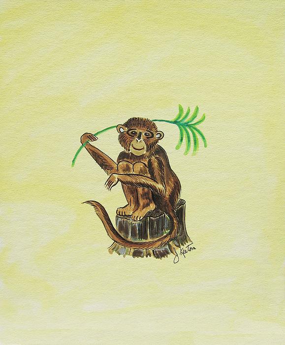 Tropical Monkey 3 Print by John Keaton