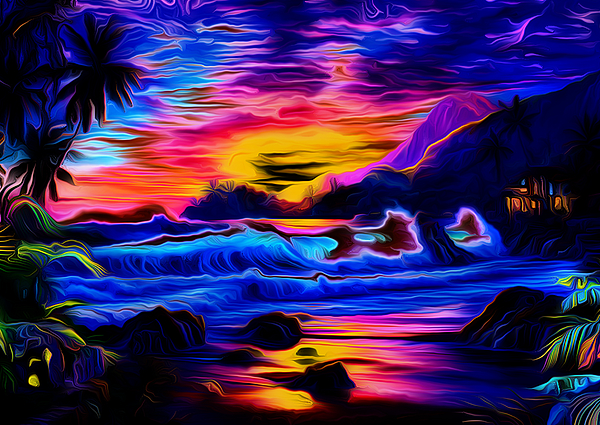 Ron Fleishman - Tropical Sunset Art