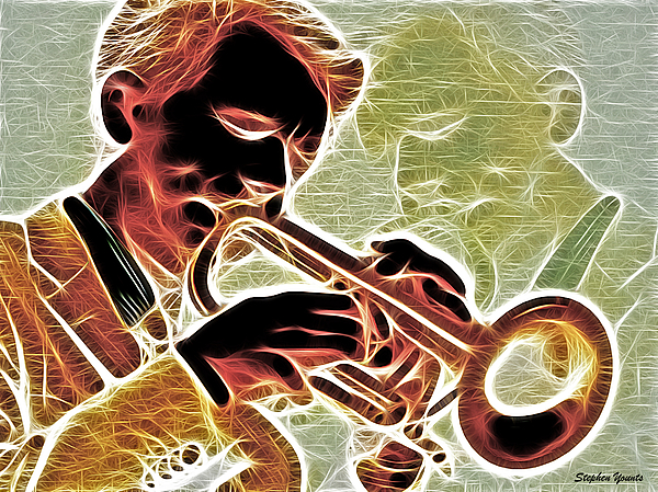 Trumpet Print by Stephen Younts