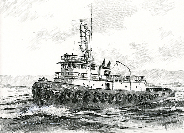 Tugboat Sandra Foss Print by James Williamson