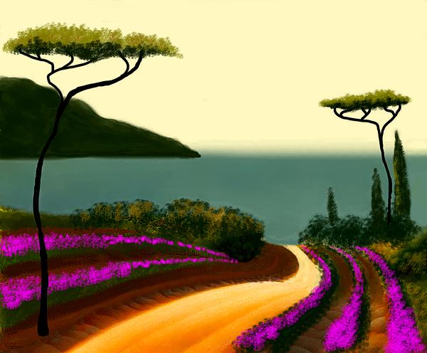 Tuscan Fields Of Beauty Print by Larry Cirigliano