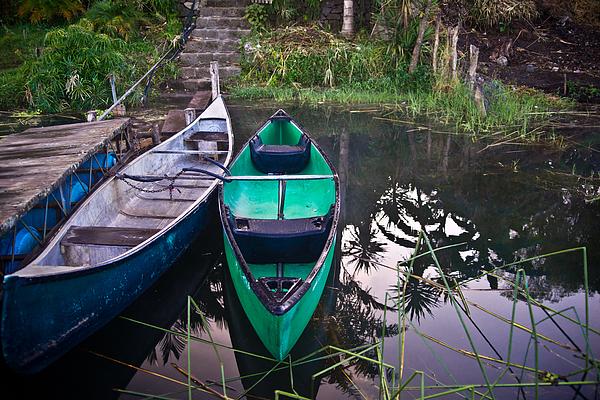 Two Canoes Print by Douglas Barnett