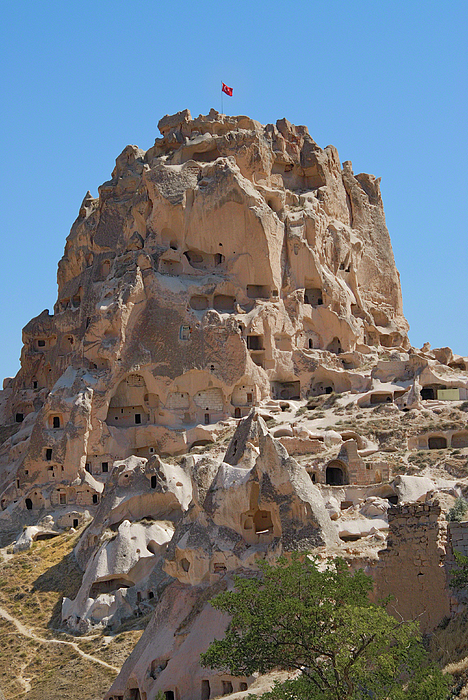 Uchisar Castle Turkey by Alan Toepfer