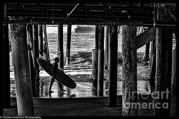 Under The Boardwalk Print by Tommy Anderson