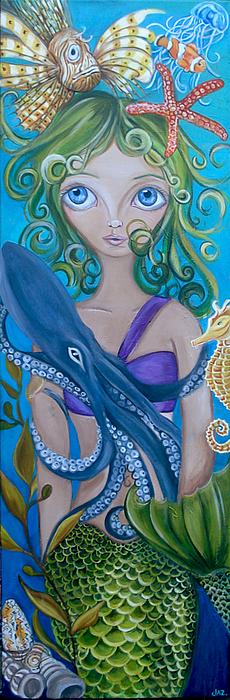 Underwater Mermaid Print by Jaz Higgins