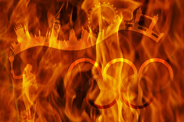 undying Olympic flame Print by Michal Boubin
