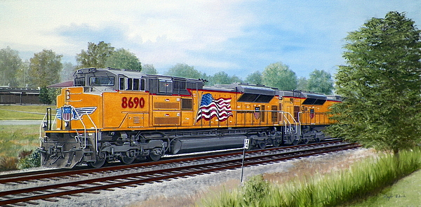 Union Pacific 8690 Print by RB McGrath