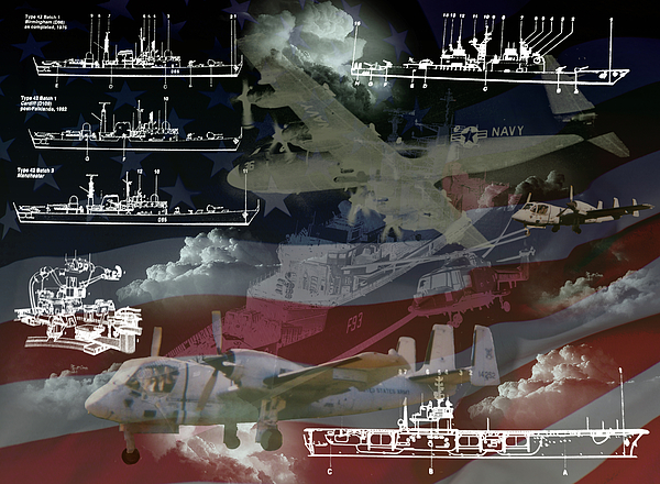 United States Armed Forces Two Print by Ken Frischkorn
