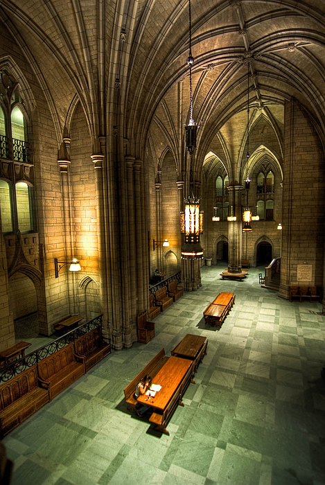 University Of Pittsburgh Cathedral Of Learning Print by Amy Cicconi