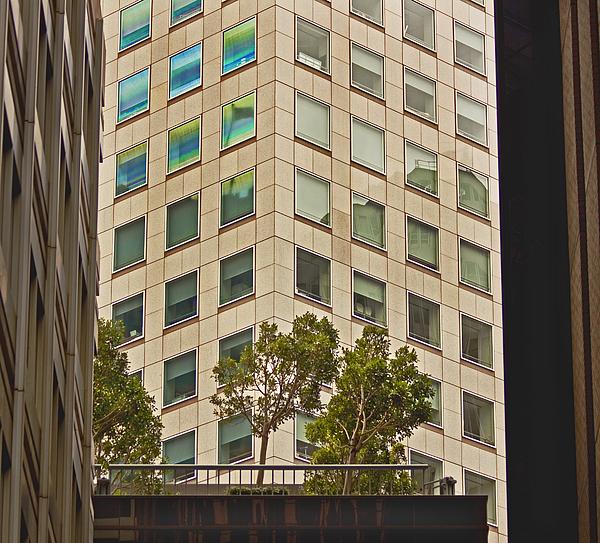 Urban Living In San Francisco Financial District Print by Mark Hendrickson