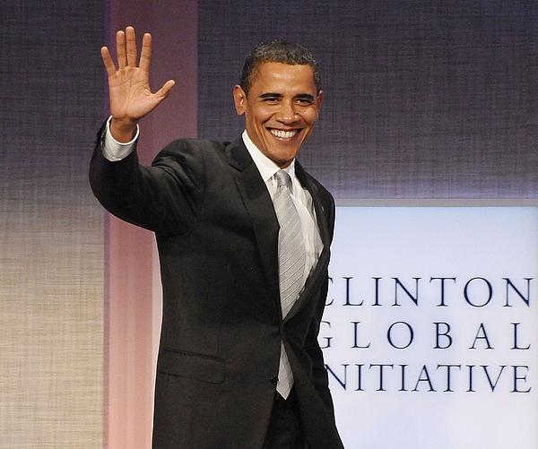 U.s. President Barack Obama At A Public Print by Everett