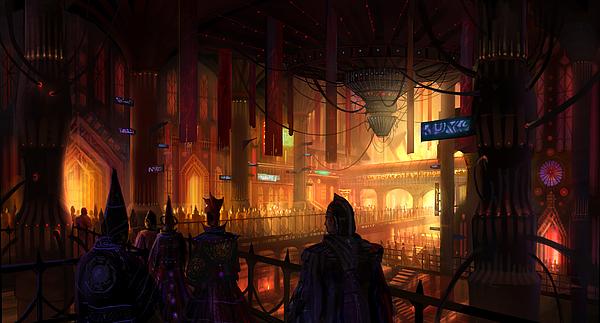 Utherworlds The Gathering Print by Philip Straub