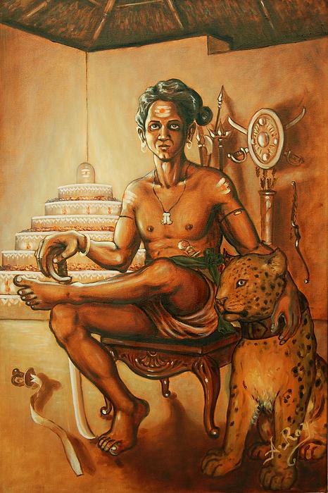 Vaduthala Nair - An Exponent In Kalari Print by Anup Roy