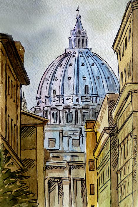 Vatican City Print by Irina Sztukowski