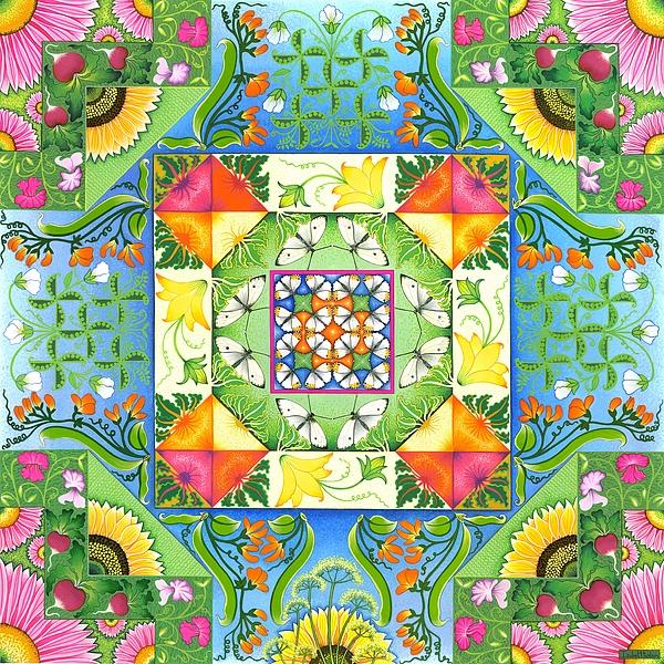 Vegetable Patchwork Print by Isobel  Brook Haslam