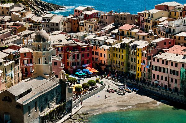 Venazza Cinque Terre Italy Print by Xavier Cardell