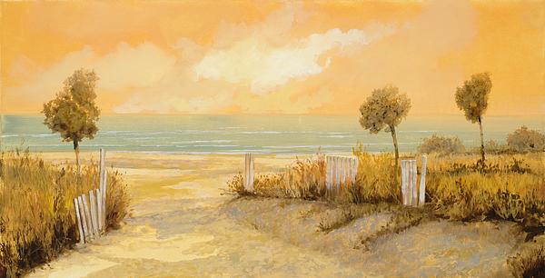 Verso La Spiaggia Print by Guido Borelli