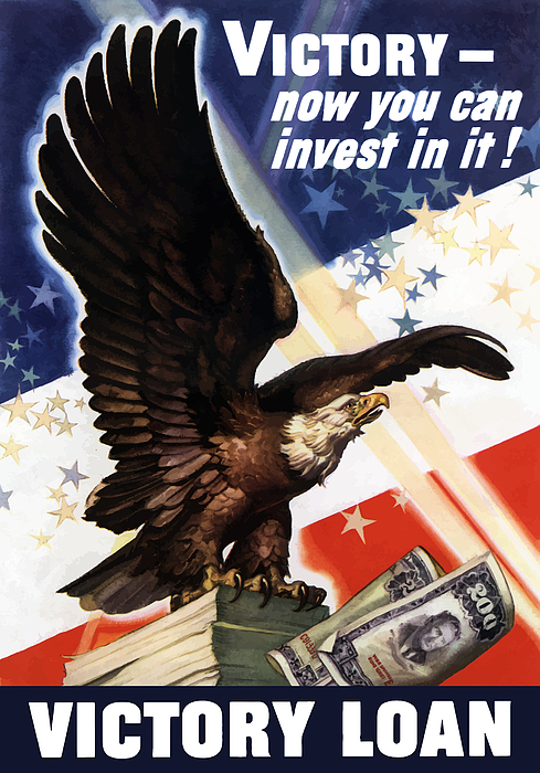 Victory Loan Bald Eagle Print by War Is Hell Store