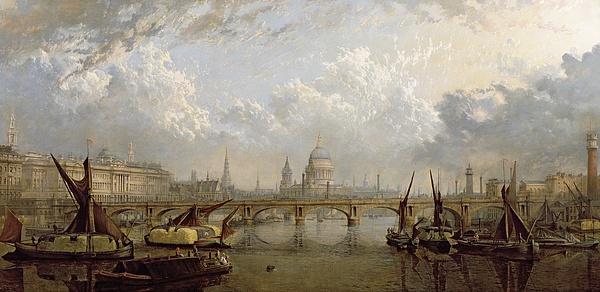 View Of London Print by John MacVicar Anderson