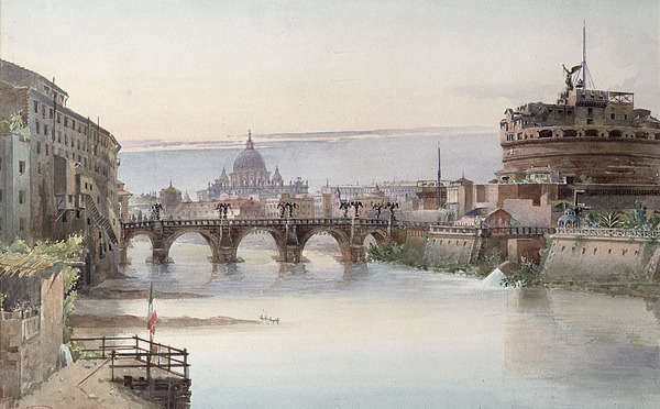 View Of Rome Print by I Martin