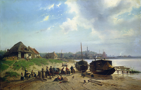 View Of The Dutch Coast Print by Johan Gerard Smits