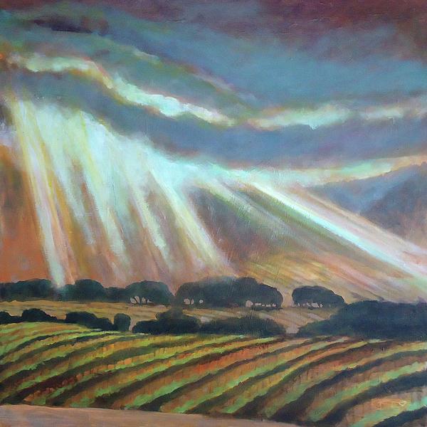 Vineyard Rain Print by Kip Decker