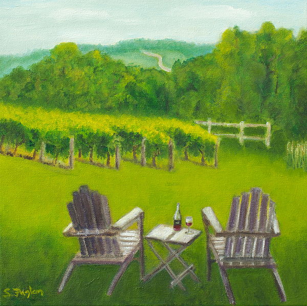 Vineyards Of Sogn Valley Print by Susan Fuglem