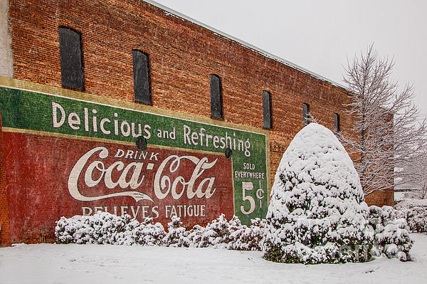 T Lowry Wilson - Vintage Coca Cola Sign New Albany Mississippi