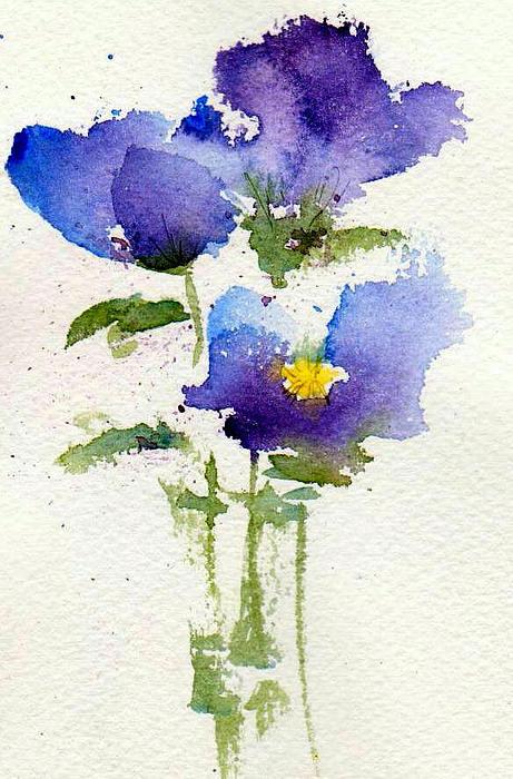 Violets Print by Anne Duke