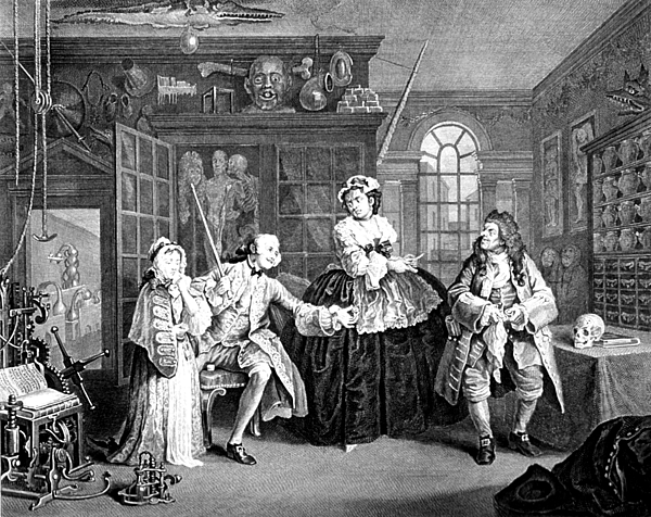 Visit To The Quack Doctor, 1745 Print by Science Source