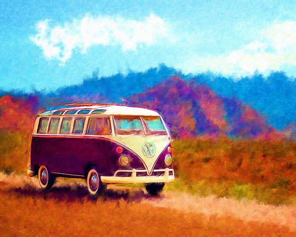 Vw Van Classic Print by Marilyn Sholin