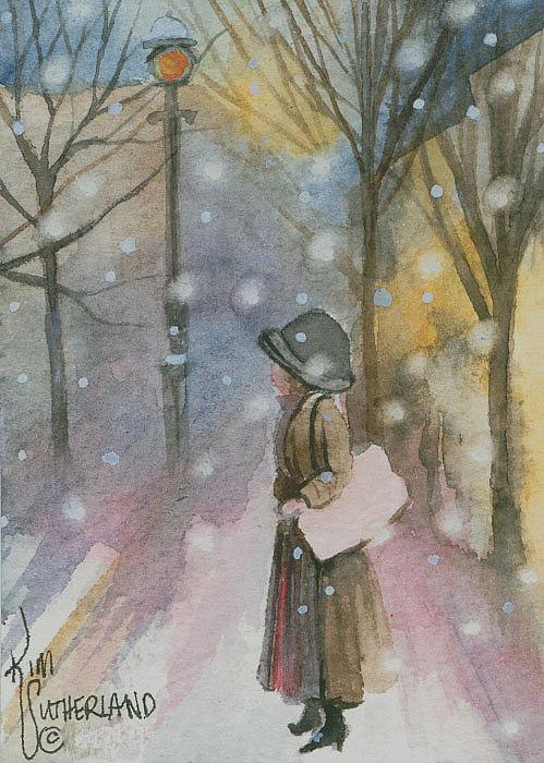 Walking In A Winter Wonderland Print by Kim Whitton