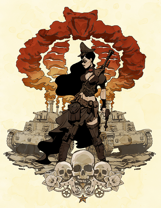 War Maiden Print by Brian Kesinger