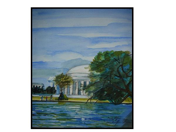 Washington Dc View Print by Angela Puglisi