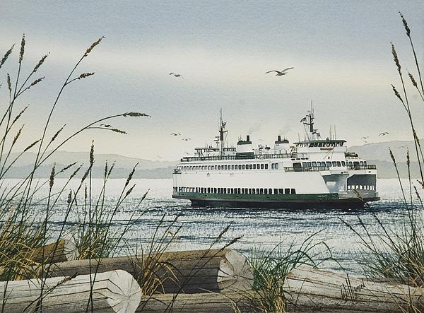 Washington State Ferry Print by James Williamson