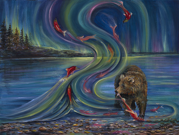 Vicki Caucutt - Watching Salmon