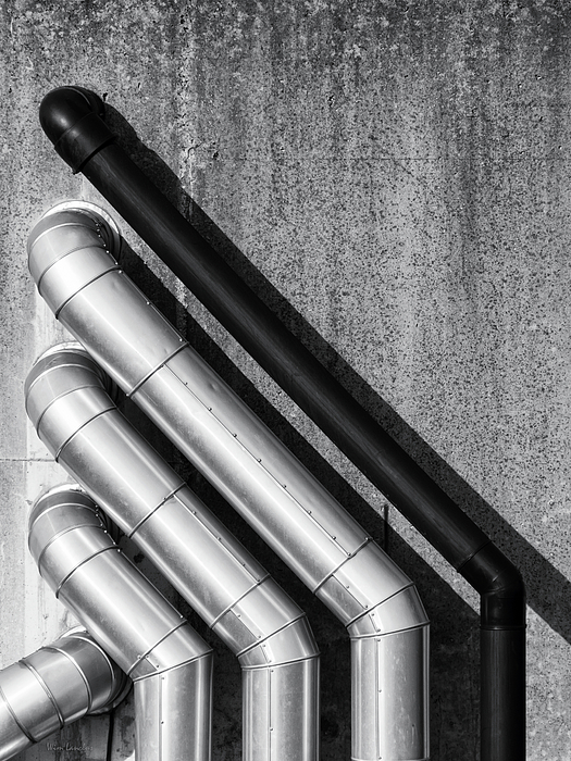 Water Pipes Print by Wim Lanclus