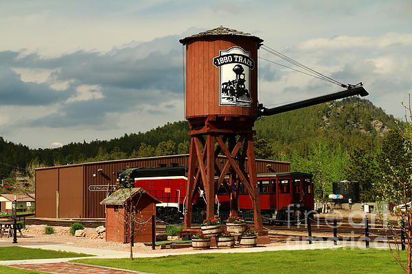 Christiane Schulze Art And Photography - Water Tower Of The Black Hills Central Railroad