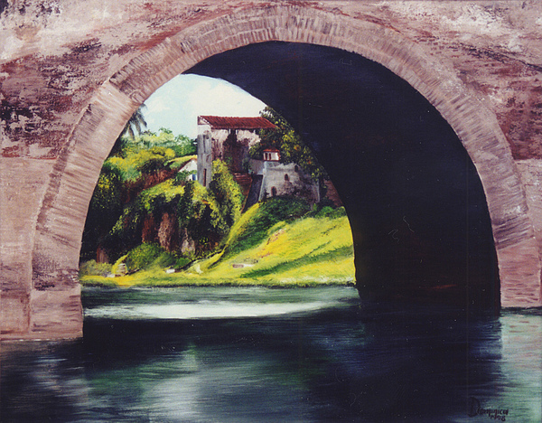 Water Under The Bridge Print by Dominica Alcantara