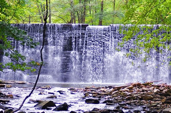 Waterfall In Gladwyne Print by Bill Cannon