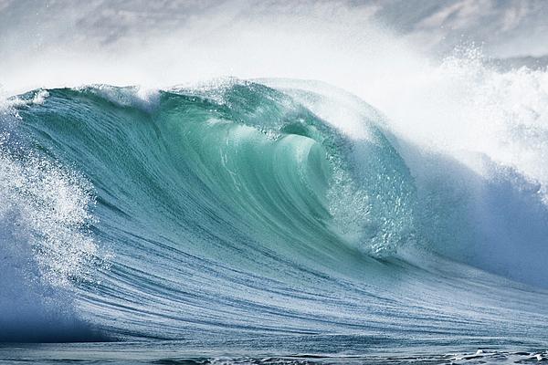 Wave In Pristine Ocean Print by John White Photos