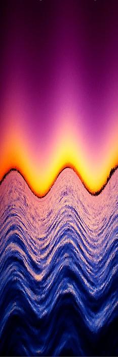 Wave Me A Color Print by Florene Welebny