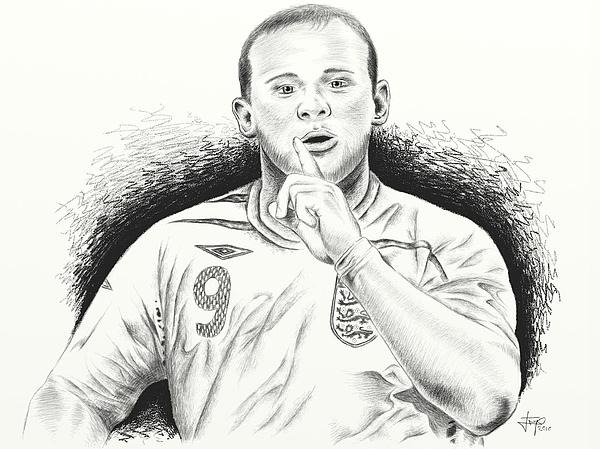 Wayne Rooney With Enggland Print by Yudiono Putranto