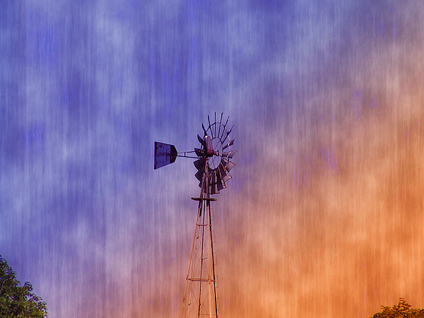Weather Vane Sunset Print by Bill Cannon